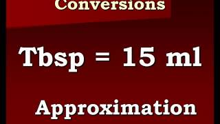Conversion Video Tablespoons To Milliliters And Back Againwmv