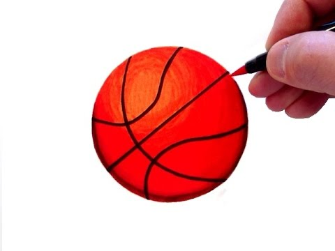 How to Draw a Realistic Basketball
