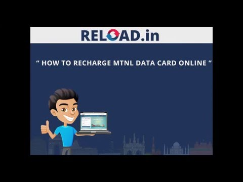 MTNL Data Card Recharge with Reload.in