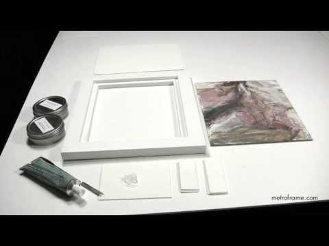 How to attach paintings on panels to wood floater frames