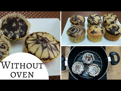 How to make swirl chocolate cupcakes-Without Oven Marble,Zebra,Flower cupcakes urdu/Hindi