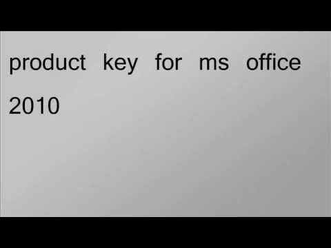 Free Microsoft Office 2010 product key