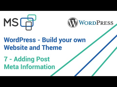 Wordpress Custom Theme and Website - #7 - Adding and styling Post Meta Information