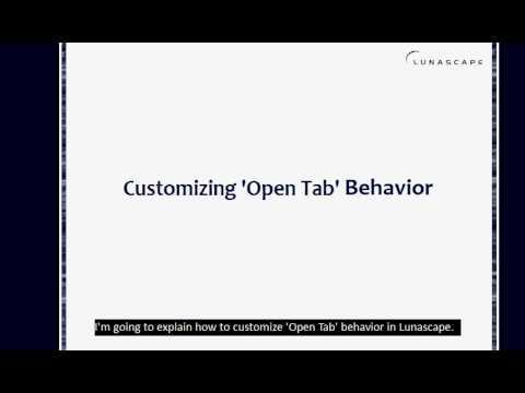 How to Customize 'Open Tab' Behavior in Lunascape.avi