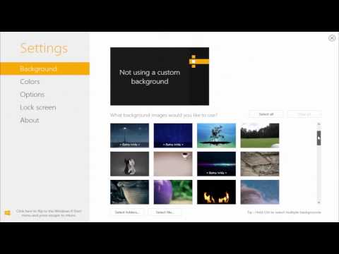 How to Change Start Screen Background in Windows 8