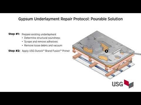 Gypsum Underlayment Repair Protocol: Pourable Solution