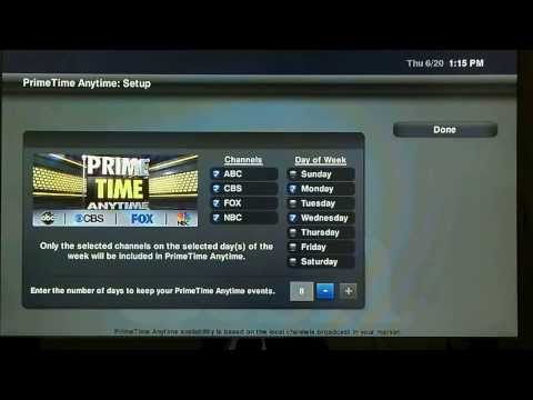 Dish Network Prime Time Tutorial