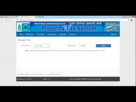 BBMP | How to download Property Tax Receipt