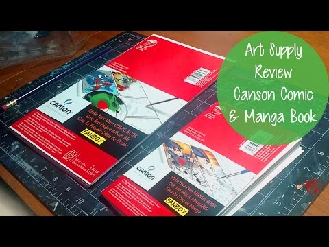 ART SUPPLY REVIEW! Canson Make Your Own Comic and Manga Books!