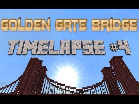 MINECRAFT: Timelapse: EP 2 Golden Gate bridge