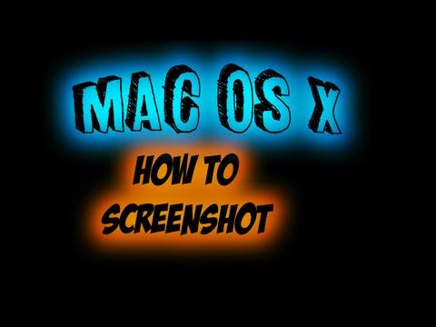 DIY | How to Screenshot | Mac OS X Computer