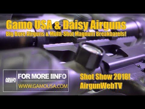Gamo USA / Daisy at Shot Show 2018 - Gamo and Winchester Big Bore Airguns! - AirgunWebTV