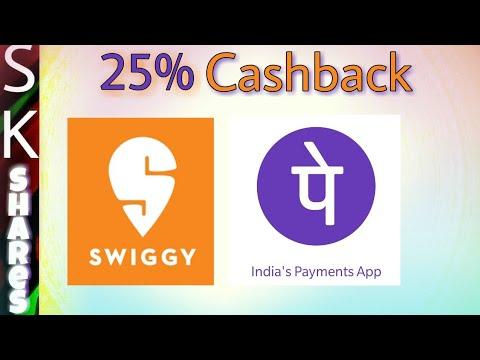 [Expired] 25% cashback in Swiggy on PhonePe