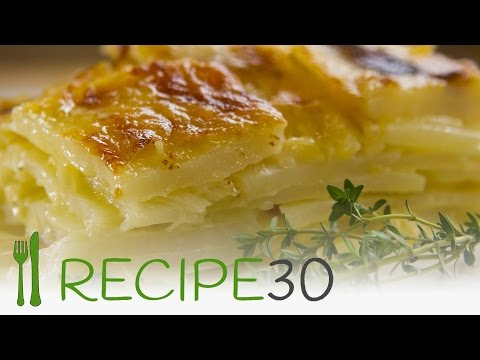 CHEESY POTATO GRATIN or Scalloped potato recipe