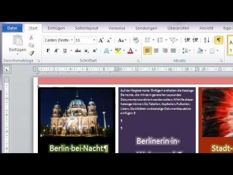 Mit Word 2010 ein Flyer erstellen