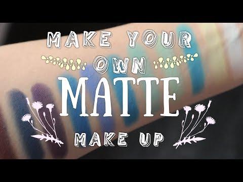 How To Make Matte Eyeshadows, Blushes, Contour | DIY Cosmetics