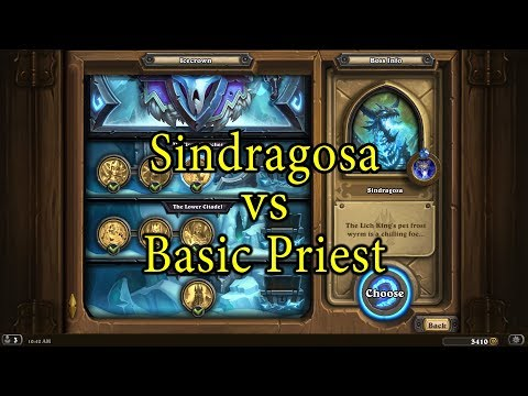 Hearthstone: Sindragosa with a Basic Priest Deck