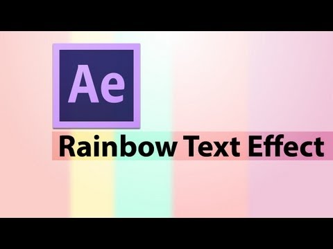 Adobe After Effects CS6 : How to Make a Multi Color Background Text Effect
