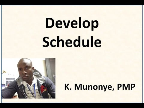 Project Time Management   Develop Schedule