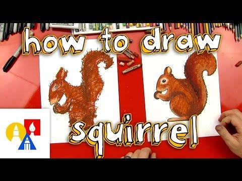 How To Draw A Squirrel Sya