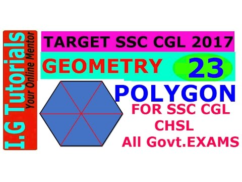 GEOMETRY for SSC CGL-23 Advance maths for SSC CGL POLYGON and its Properties SSC CGL CHSL[IN HINDI]