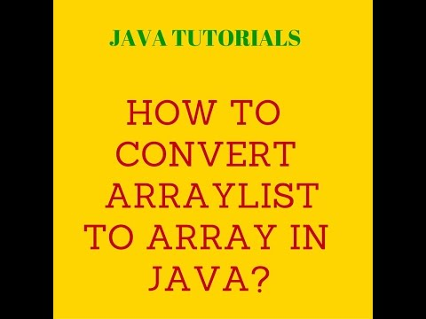 How to convert arraylist to array in java?