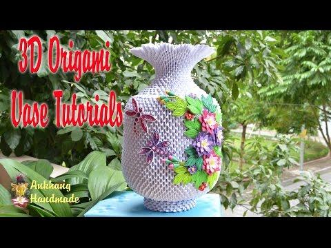 HOW TO MAKE 3D ORIGAMI VASE V3 PART 2 | DIY PAPER FLOWER VASE V3 PART 2