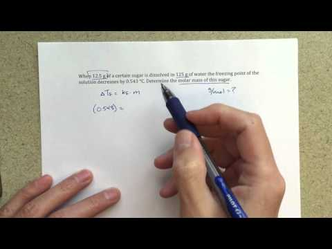 General Chemistry II - Freezing Point Depression - Solving for Molar Mass