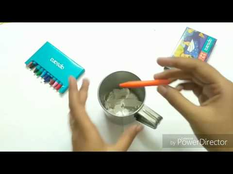 How to make candles and water candles at home.