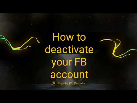 how to deactivate facebook account temporarily in Android