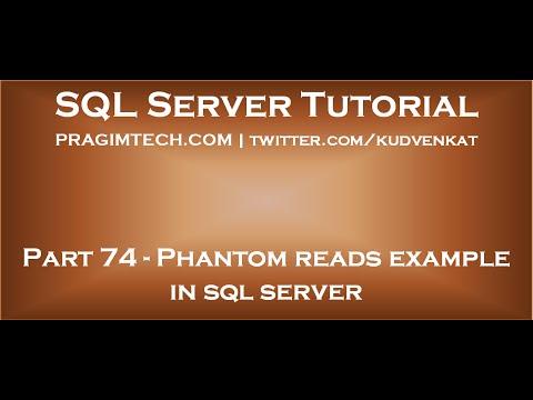 Phantom reads example in sql server