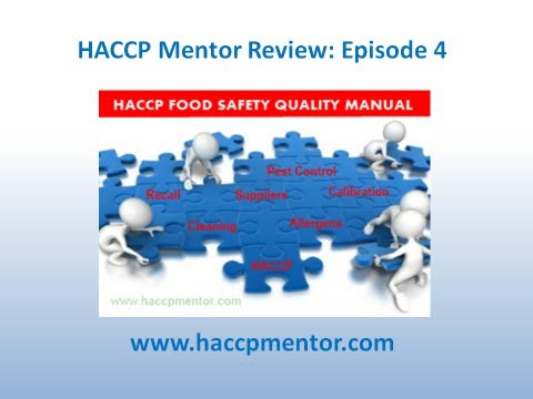 How do you organise your HACCP Food Safety Manual?