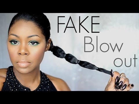 How I wear my hair when it's not straight - FAKE BLOW OUT