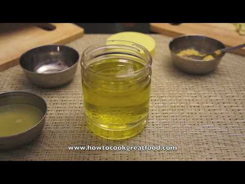 How to Make Vinaigrette Salad Dressing Recipe - Oil Vinegar Garlic Mustard