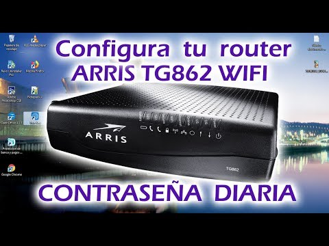 cambiar contraseña wifi modem router arris tg862 y claves diaria Claro, Vtr, Izzi