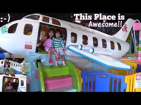 Xxx Mp4 Children 39 S Indoor Playground Awesome Kiddie Airplane Ride Kids 39 Seesaw Kiddie Slides And More 3gp Sex