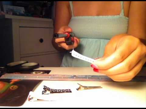 How To Make Lined Alligator Clips