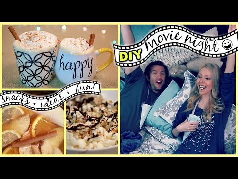 DIY MOVIE NIGHT: Snacks, Ideas + Fun!!
