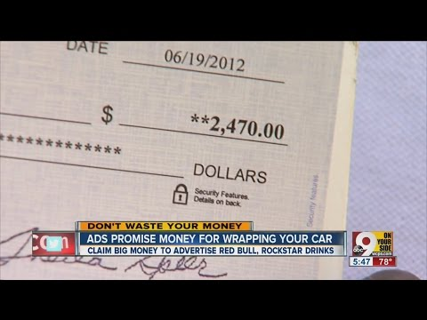 Beware offers of money to wrap your car