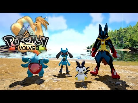 MEGA LUCARIO, GIBLE, EMOLGA & RIOLU!  Update 1.54 - Ark: Pokemon Evolved