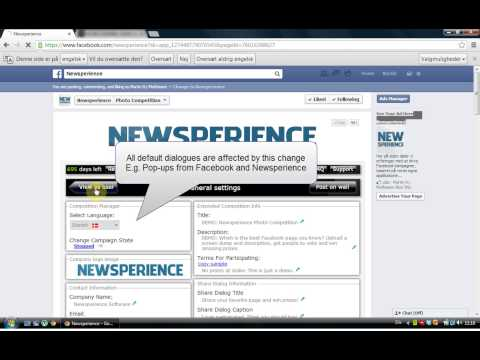 Set the Language of your Newsperience Facebook Application - tutorial