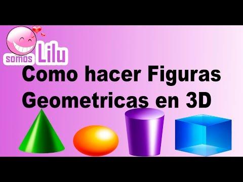 Como hacer figuras geometricas en 3D - Somos lilu