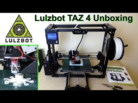 XRobots - Lulzbot TAZ4 3D Printer Unboxing, Setup & First Prints