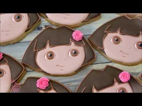 How to make Dora Cookies by Emma's Sweets