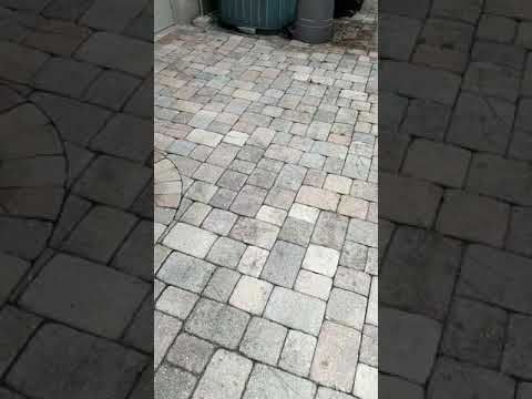 Clean Sand and Seal brick pavers
