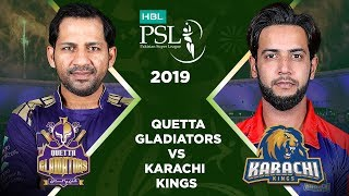 Match 15: Full Match Highlights Quetta Gladiators vs Karachi Kings | HBL PSL 4 | HBL PSL 2019