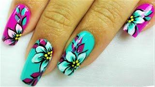 Decoración De Uñas Flores Margarita Flowers Nail Art Nlc