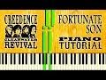 CCR - FORTUNATE SON - Piano Tutorial
