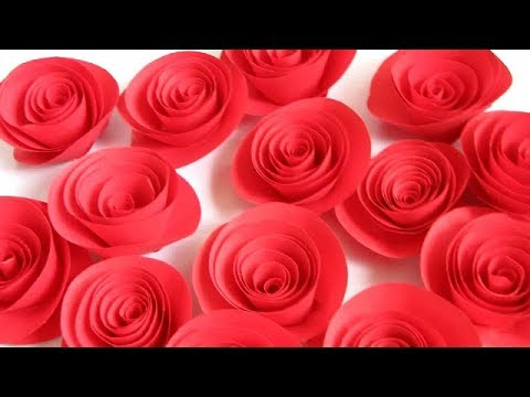 DIY. Roses from paper handwork 2 min!!! How to make rolled paper flowers. Розы из бумаги за 2 мин
