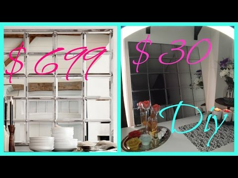 DIY DOLLAR TREE WALL MIRROR
